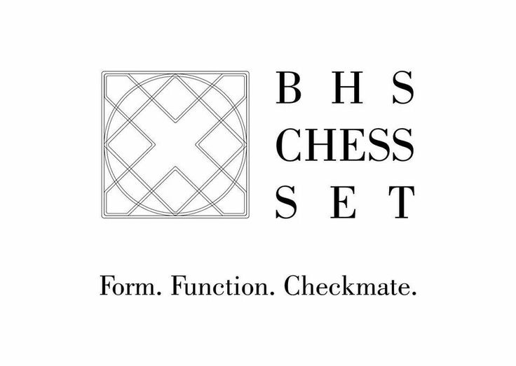 BHS CHESS SET. Inspired by Hartwig Chess set.
