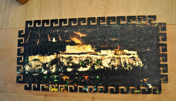 Acropolis, a taste of ancient Greece! hand cut wooden puzzle