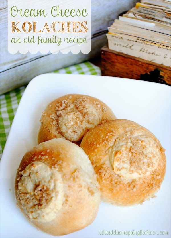 An old family favorite recipe for Cream Cheese Kolaches: modernized with frozen Rhodes bread roll dough.