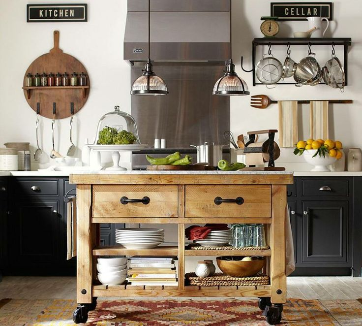 A kitchen that 39 s on a roll kitchens pinterest for Pottery barn style kitchen ideas