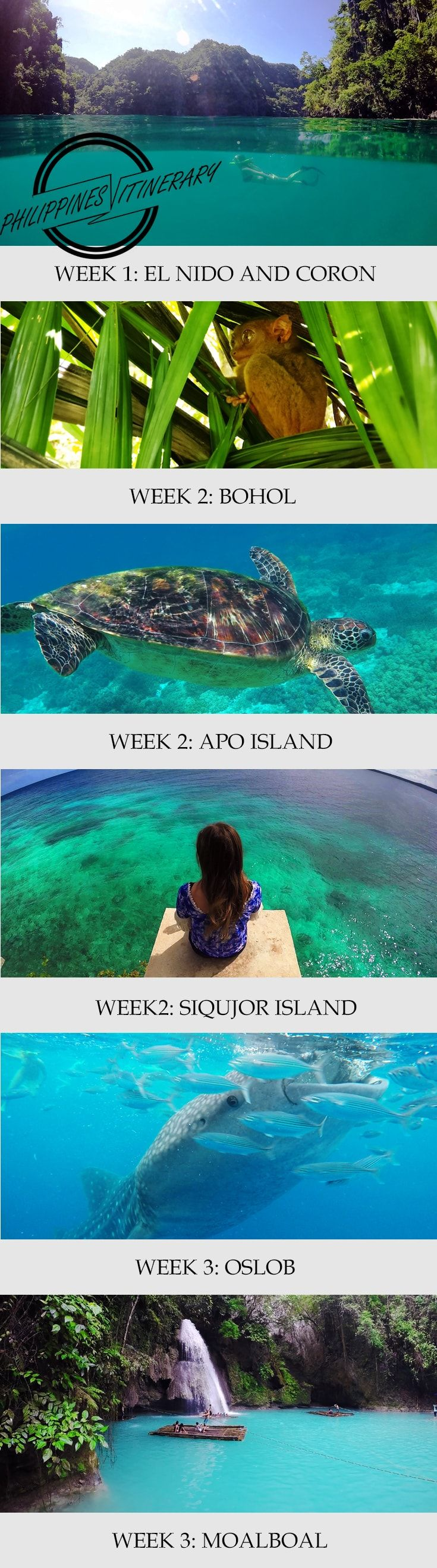 PHILIPPINES ITINERARY- BUDGET BACKPACKER EDITION