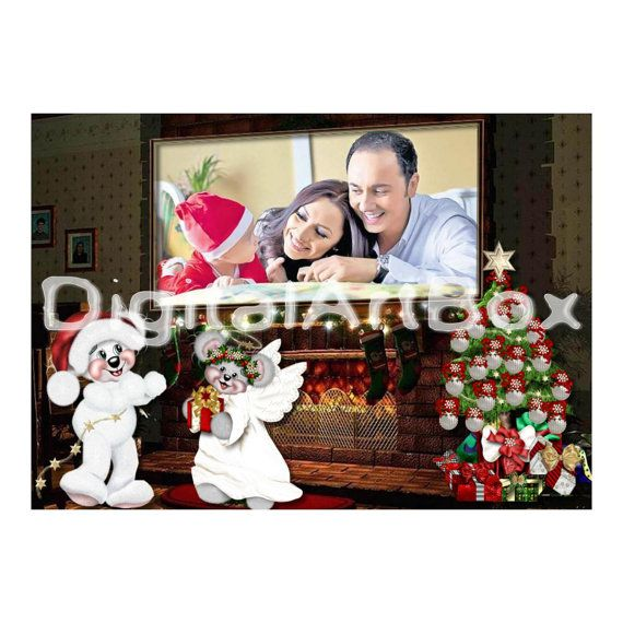Custom Photo Christmas CardLast minute gift 1st by DigitalArtBox