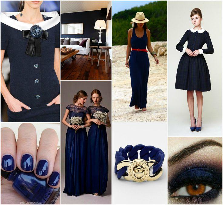 Polish blogger Maria analyses shades of blue right for each season type:  navy