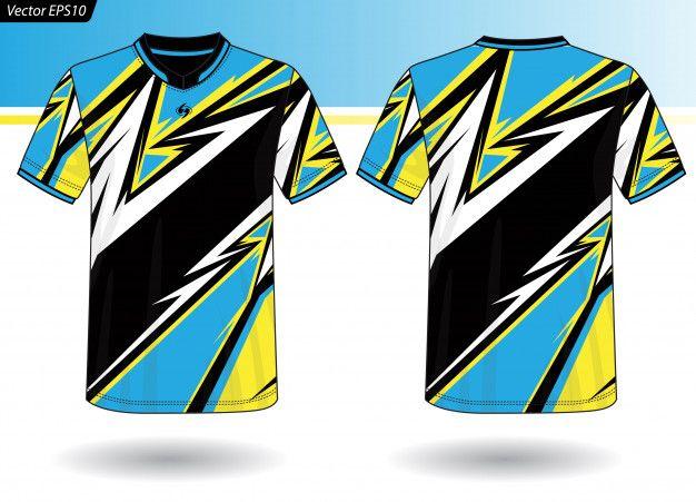 Download Sports Jersey Template For Team Uniforms Premium Vector Freepik Vector Mockup Kids Template Fashion Sports Tshirt Designs Team Uniforms Jersey