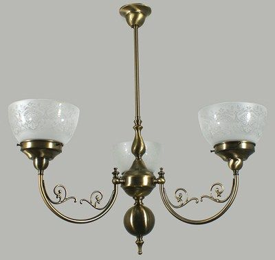 Antique Brass Heritage 3 Light Pendant with Keon Glass