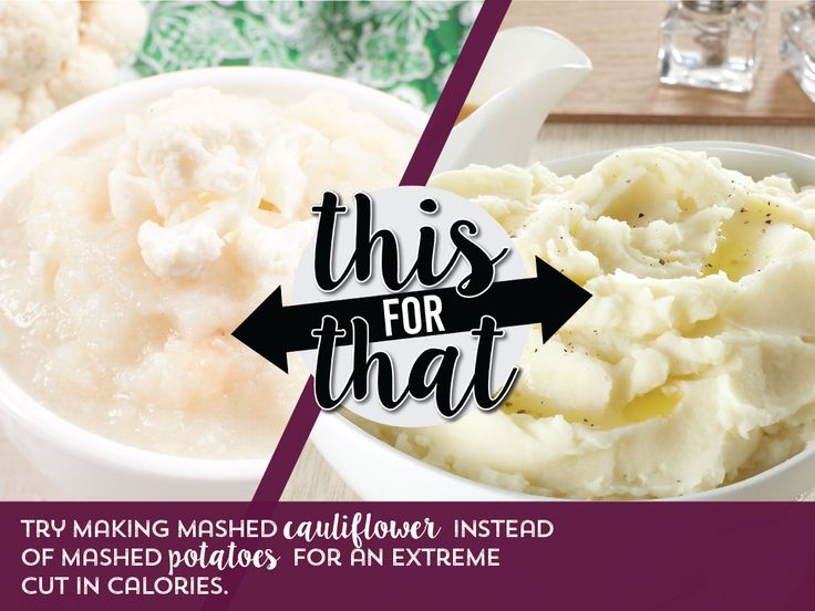Healthy Holiday Food Swap 5 of 8: Use cauliflower instead of mashed potatoes.