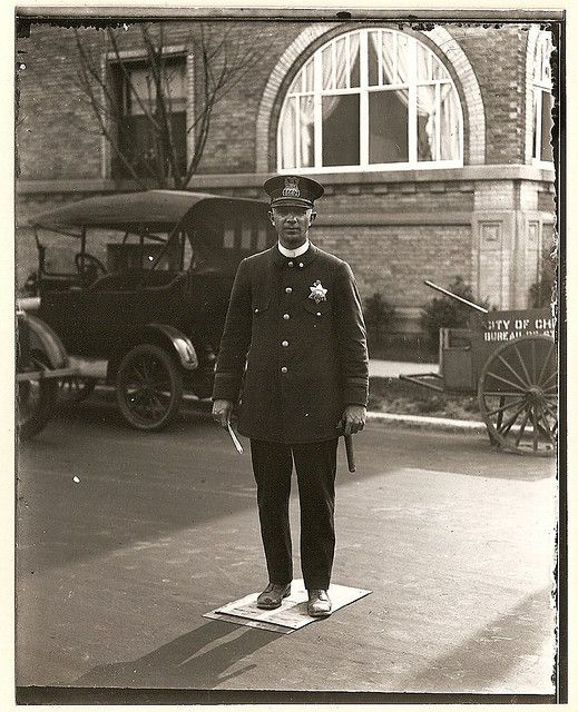 vintage Chicago #police photograph. My spouse is a policeman, so I love to collect these.