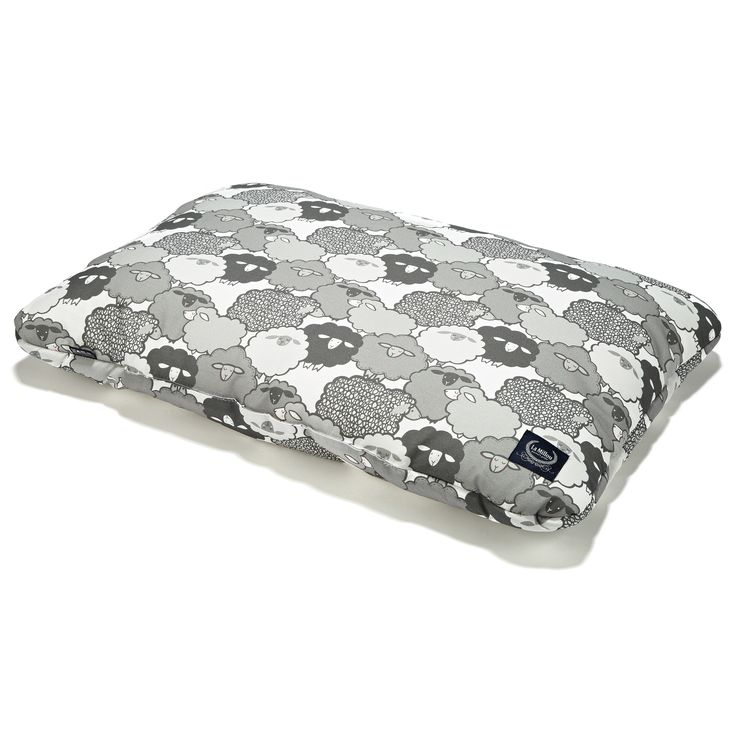 Bed Pillow - Graphite Sheep Family