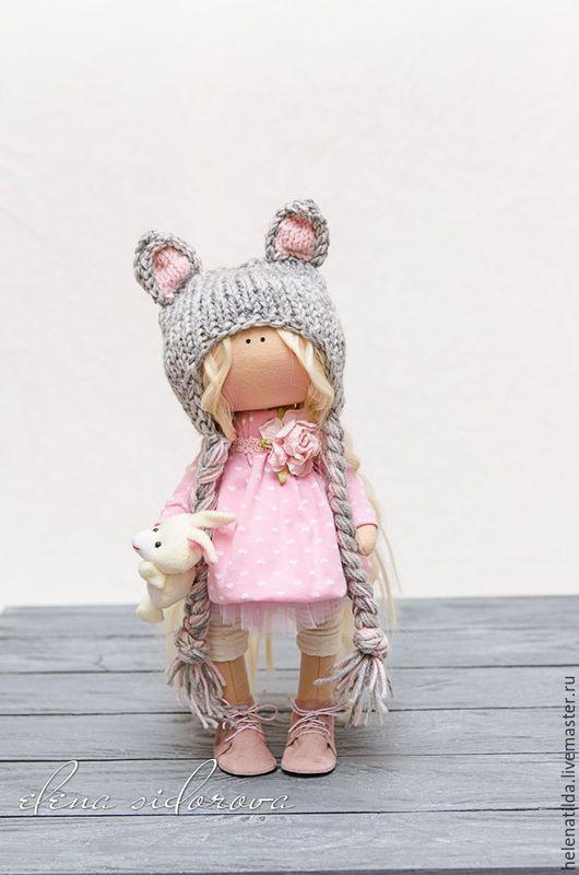 Коллекционные куклы ручной работы. Ярмарка Мастеров - ручная работа. Купить Мышка-малышка!. Handmade. Кремовый, Декор, интерьер, трикотаж