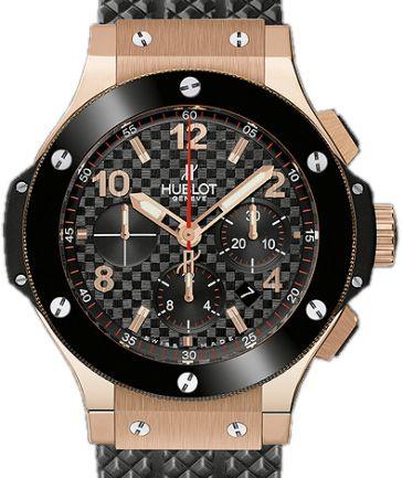301.PB.131.RX Hublot Big Bang 44 - швейцарские мужские наручные часы - золотые, черные - хронограф