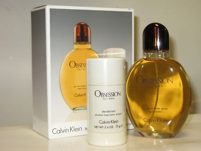 Calvin Klein Obsession Men 4.0 oz / 125ml EDT + Deodorant Stick 2.6 oz Cologne Gift Set