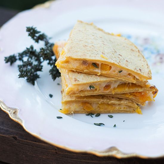 I cannot wait to try this one! Butternut squash quesadillas with thyme