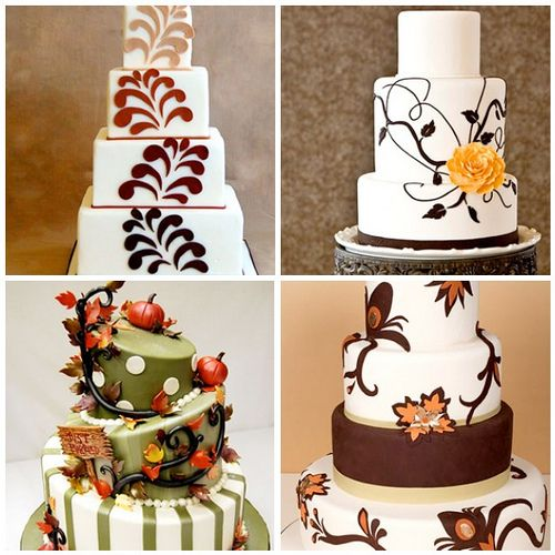 Pinterest Fall Wedding Ideas: Out Of The Ordinary Fall Wedding Cakes