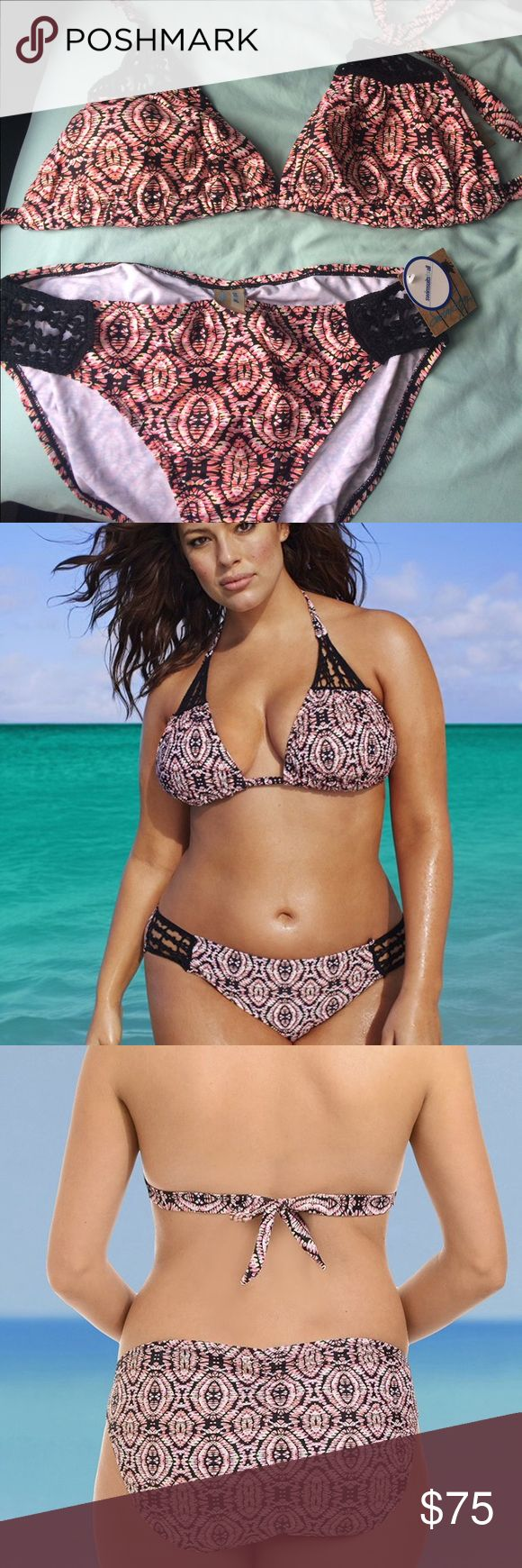Swimsuits for all Globetrotter bikini Bottoms are new with tags size 14, top is new but tags were removed is size 16. Perfect for larger chest women. Swimsuits for all Swim Bikinis
