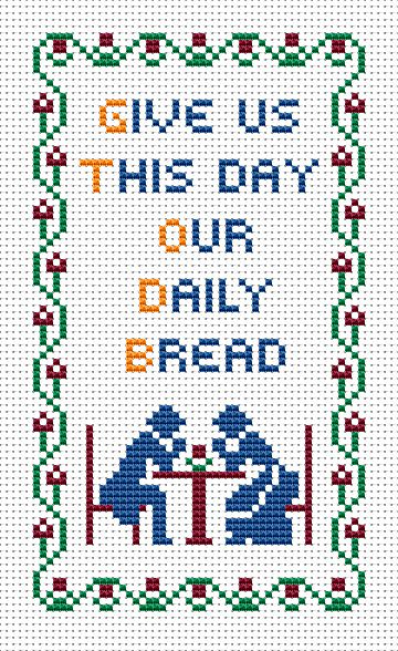 Our Daily Bread free cross stitch pattern
