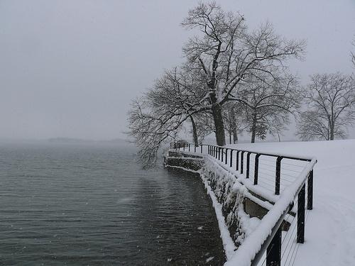 Snowy Lake Maxinkuckee, Culver, Indiana