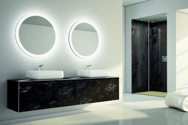 244 Best Illuminated Backlit LED Round Bathroom Mirror LED