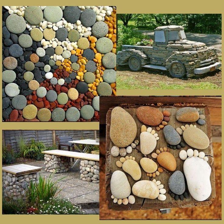 поделки из камней для сада