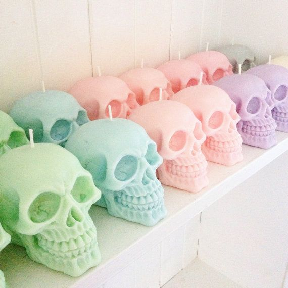 ##This listing is for a set of two candles## These cute little soy-wax Skull candles are available in a variety of scents & colours. You choose! They are made with 100% soy wax with natural dyes, are hand-poured & will burn for 8-10 hours. Thats if you can bring yourself to burn them! Current scents include : Vanilla, Coconut, Cherry, Raspberry, Orange & Cinnamon, Bubblegum, Cotton Candy, Peppermint, Parma Violets, Salted Caramel, Peach & Papaya & more!!! All candles are made to order. Pl...