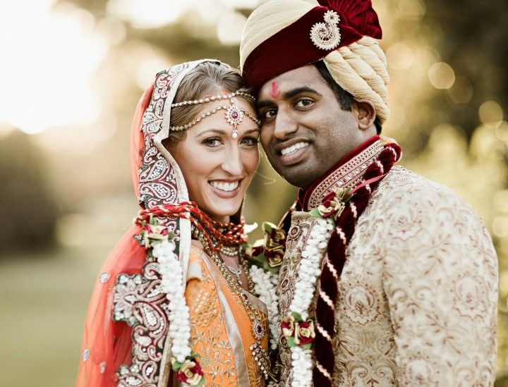 Bride and Groom in Traditional Indian Dress for their Hindu Wedding, Photo by Kevin Barre Photography, Planning by Bella Baxter Events