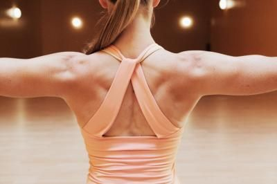 These exercises target the upper back and shoulder muscles. A gym is not required because these exercises require no equipment.