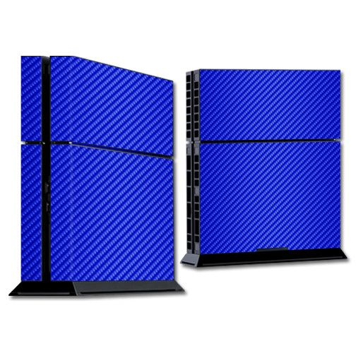 Blue Carbon Fiber Sony Playsation 4 Skin https://www.mightyskins.com/ #MightySkins #PS4