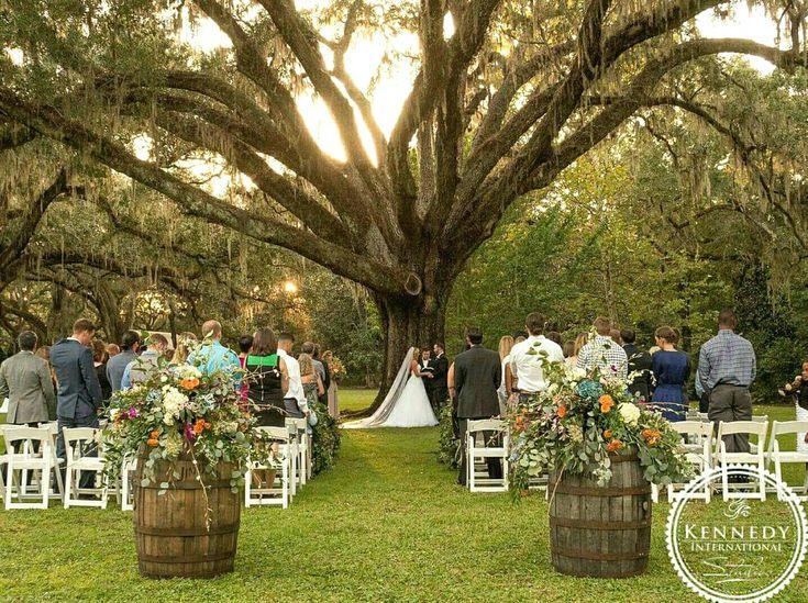 Eden Gardens State Park, Oak tree, fall wedding, outdoor wedding, Florida