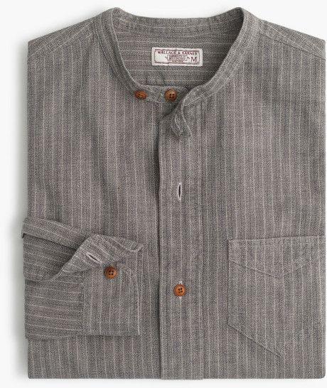 J.Crew | Gray Wallace & Barnes Jaspé Band-collar Popover Shirt for Men | Lyst