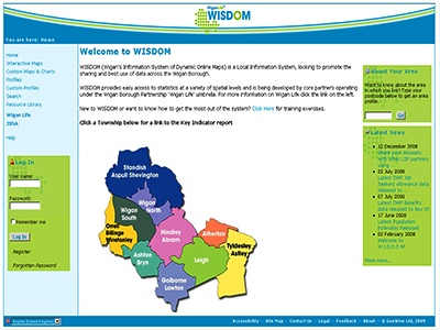 Wigan's Information System of Dynamic Online Maps (WISDOM) provides easy access to statistics at a variety of spatial levels covering a range of themes including deprivation, health and social care, children and young people and crime and disorder.    Read their story here - http://bit.ly/HVPIsX
