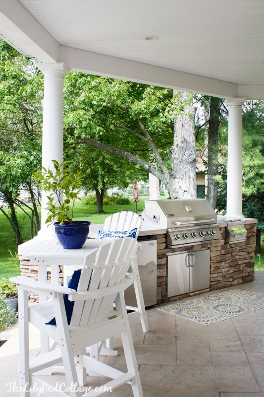 Outdoor Kitchen at the lake with The Lilypad Cottage