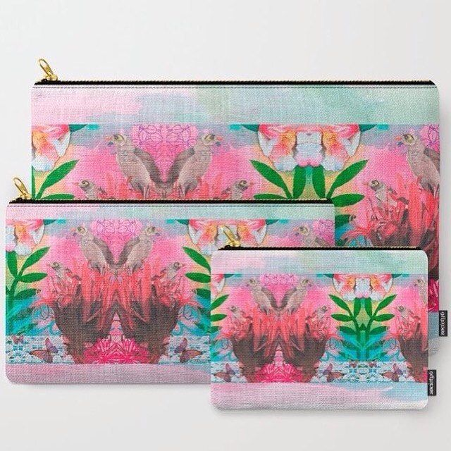 Free worldwide shipping today on my illustrated products from my Society 6 store. The new Carry-All Pouches are available in three sizes with my wrap-around artwork and are perfect for carrying toiletries, art supplies and makeup-or fit an iPad in the large one.