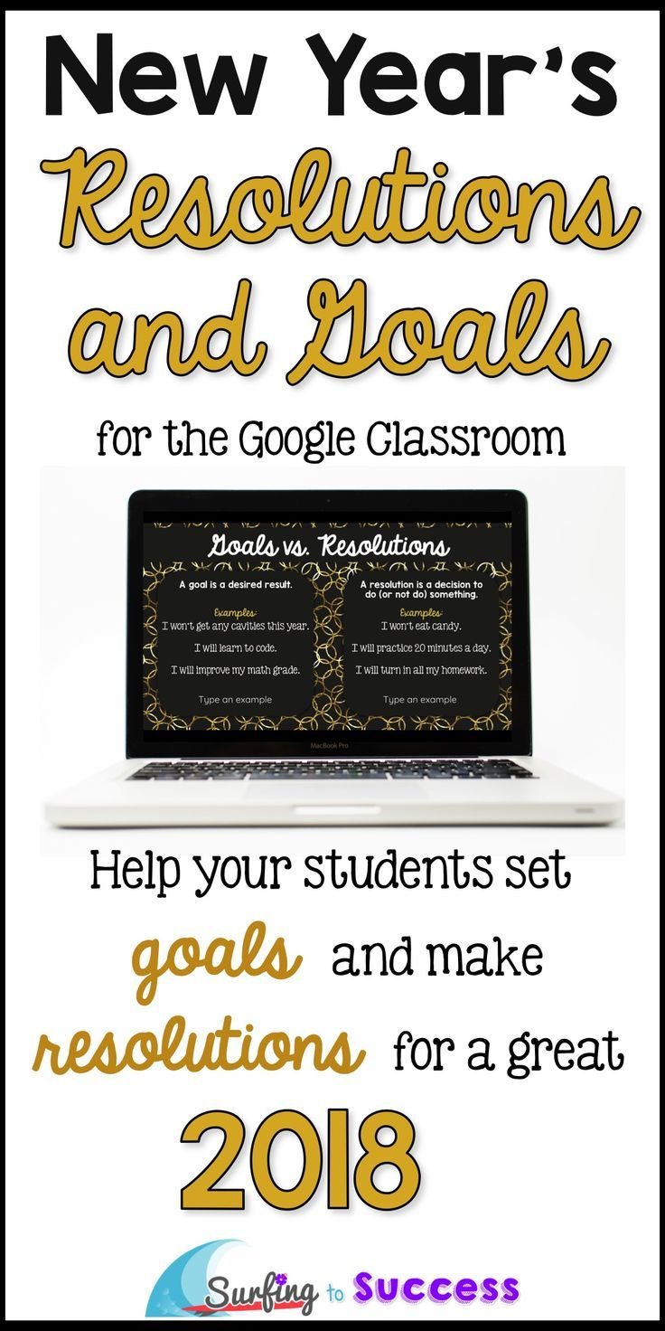 Looking for New Year activity? This digital resource will help your students understand the difference between a resolution and goal. Students will set a personal goal and an academic goal and make a resolution for each that will help them achieve their goals. This digital Google Slides resource also includes follow up slides to help students learn to be accountable.