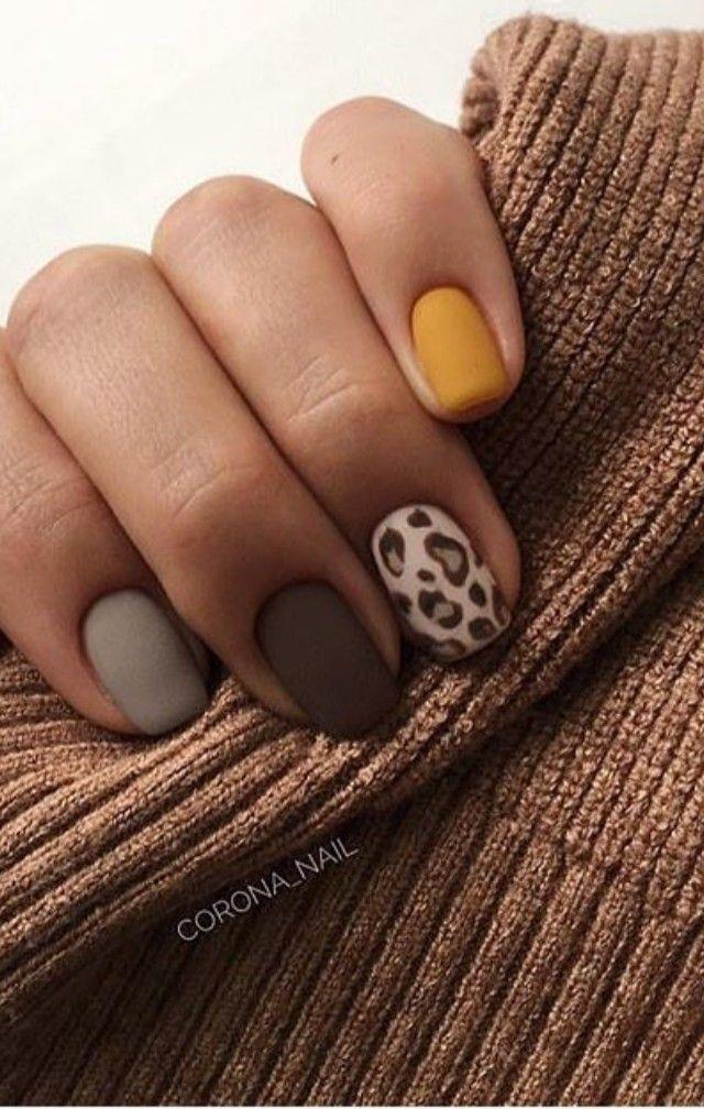 Nails Nailart Naildesigns Nailpolish Leopardprints Animalprints Fallcolors Fallnails Leopard Nails Nails Cute Nails