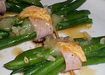 Zelené fazolky pod grilem