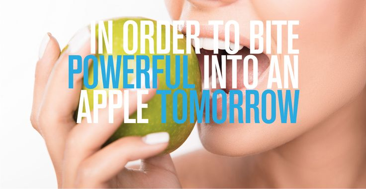 In order to bite powerful into an apple tomorrow. Dental Titan Implants from Impladenta.