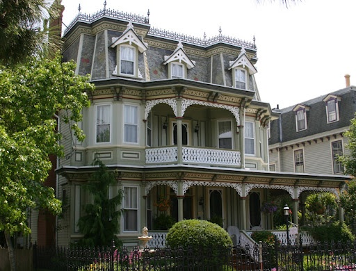 I love victorian homes, especially the gingerbread work and the wrap-around porches!