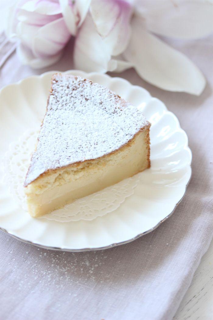 Magic Cake- Hinweis: der Teig ist seeehr dünnflüssig, daher ist eine konvetionelle Springform nicht geeignet; besser eine Silikonbackform