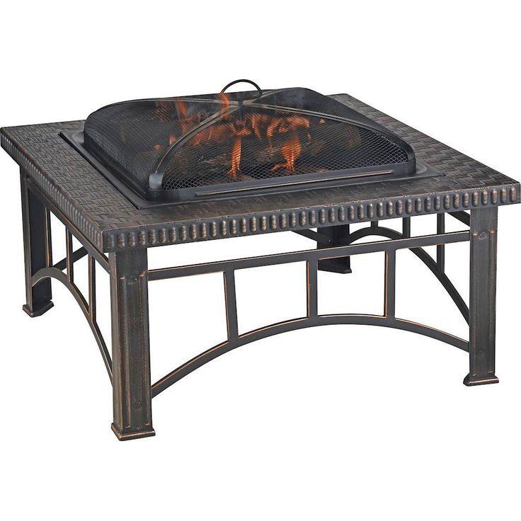 Blue Rhino - Outdoor Wood Burning Fireplace - Brushed Copper