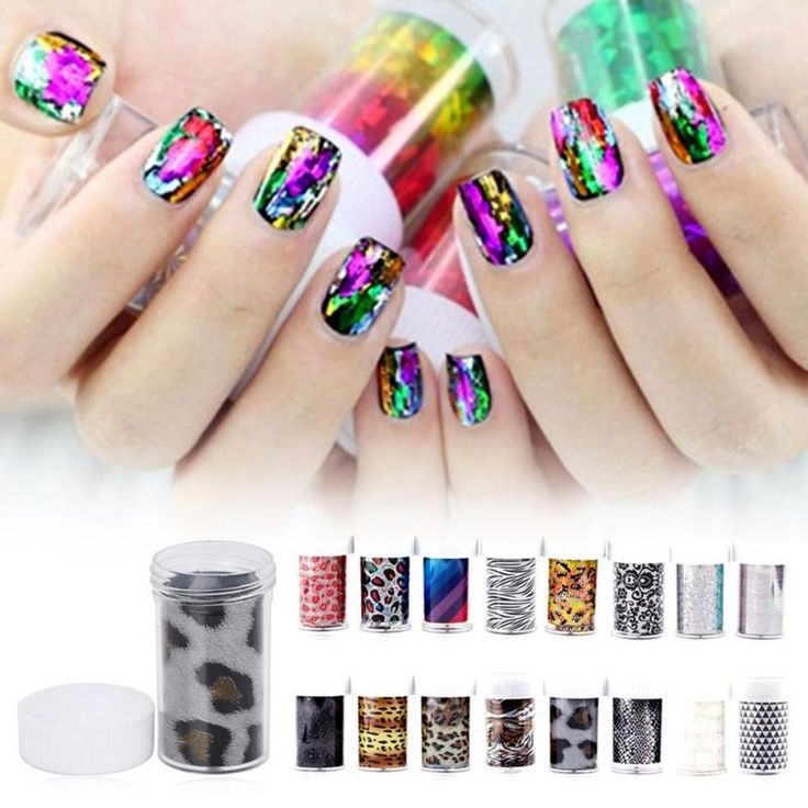 7409 best nails tools images on pinterest tools nail tools 1pc transfer nail art foil patch paper decal leopard print pattern nail art foil film leopard prinsesfo Image collections