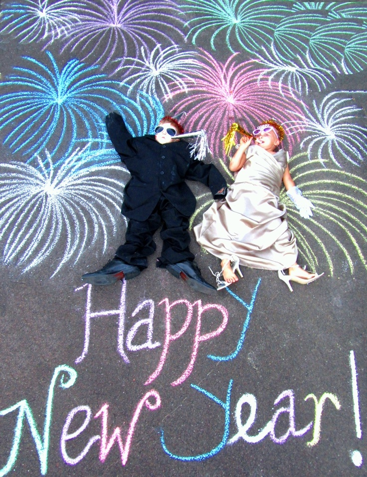 New Year's Eve photo with chalk. Awesome!
