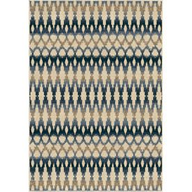 Orian Rugs Napa Ivory Rectangular Indoor/Outdoor Machine-Made Southwestern Area Rug (Common: 8X11; Actual: 7.67-Ft W X 1