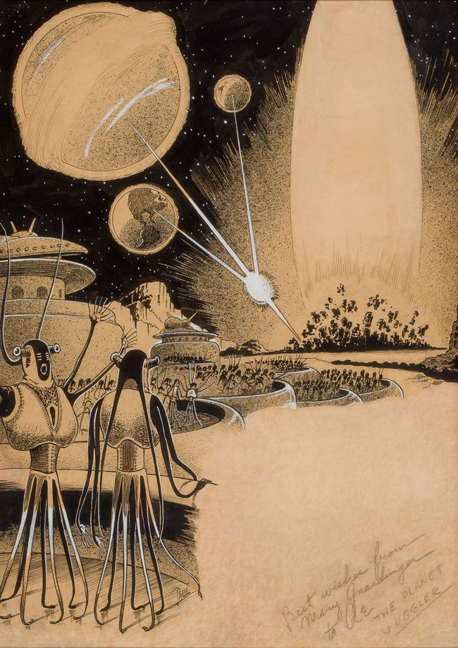 "Frank R. Paul (1884–1963)  ""The Planet Juggler,"" story illustration"