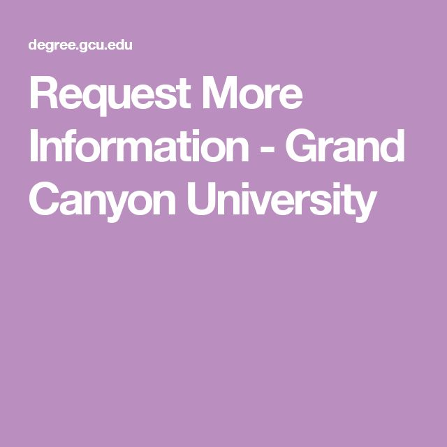 Request More Information - Grand Canyon University