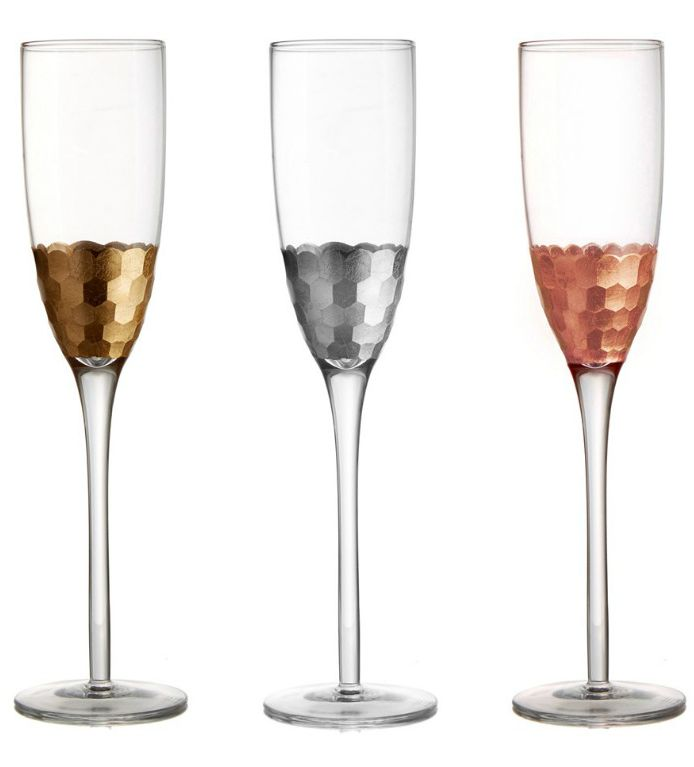 Obsessing over these gorgeous champagne flutes that come in gold, silver and copper. These are essential for ringing in the new year in festive yet glamorous style.
