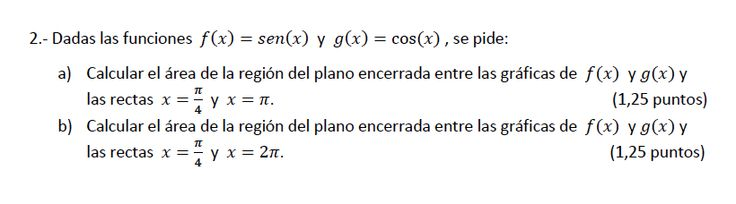 Ejercicio 2B 2013-2014 Junio. Matemática, pau de Canarias, matemática 2, integrales