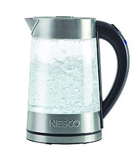 Amazon.co.jp: ネスコ 電気ケトル GWK-02 約1.7リットル Nesco GWK-02 Electric Glass Water Kettle, 1.8-Quart, Gray: ホーム&キッチン