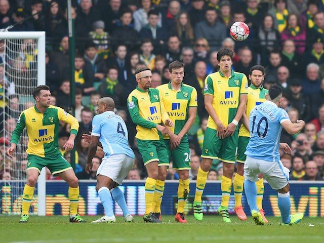 Result: Norwich City hold Manchester City to draw at Carrow Road #Manchester_City #Norwich_City #Football