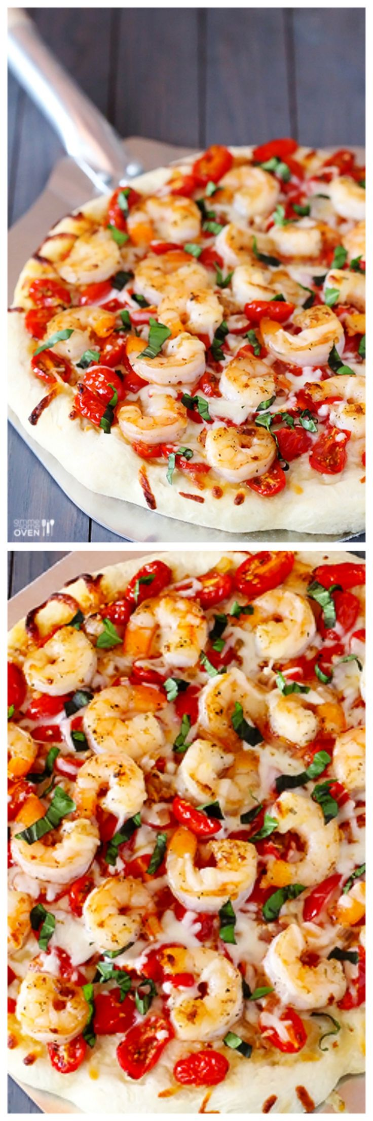Shrimp Fra Diavolo Pizza -- fresh, spicy (or as spicy as you want it!), and so good! | gimmesomeoven.com