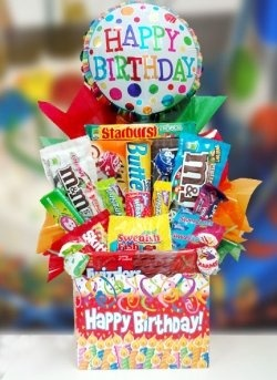 """Candy Bouquets - A Sweet Gift for Any Occasion - I guess the """"featured"""" bouquet doesn't have to be strictly flowers. This is cool. JB"""