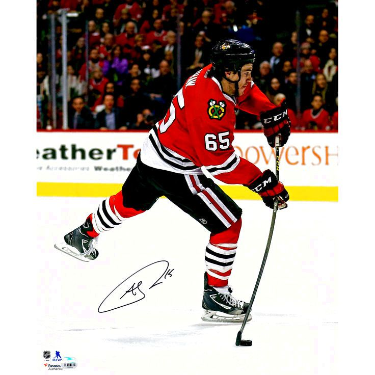 """Andrew Shaw Chicago Blackhawks Fanatics Authentic Autographed 16"""" x 20"""" Red Jersey Shooting Photograph - $28.49"""
